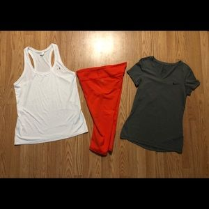 Under Armour, Fabletics, & Nike Medium lot
